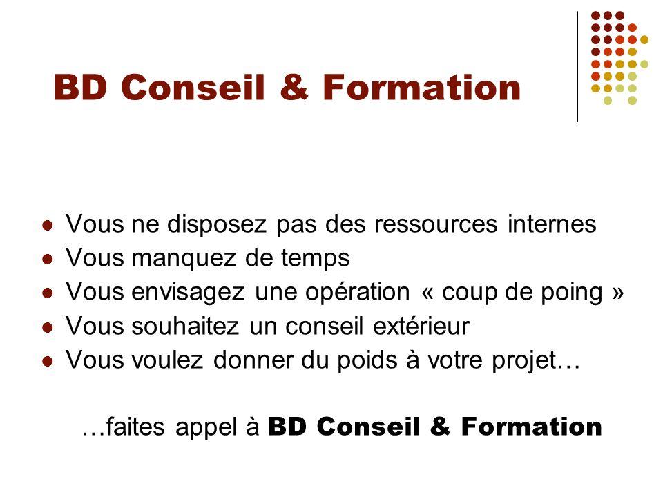 …faites appel à BD Conseil & Formation