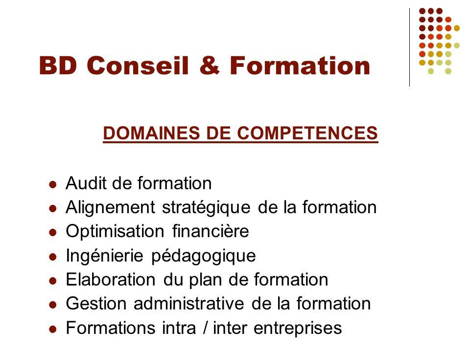 DOMAINES DE COMPETENCES
