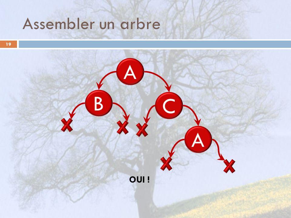 Assembler un arbre A B C A OUI !