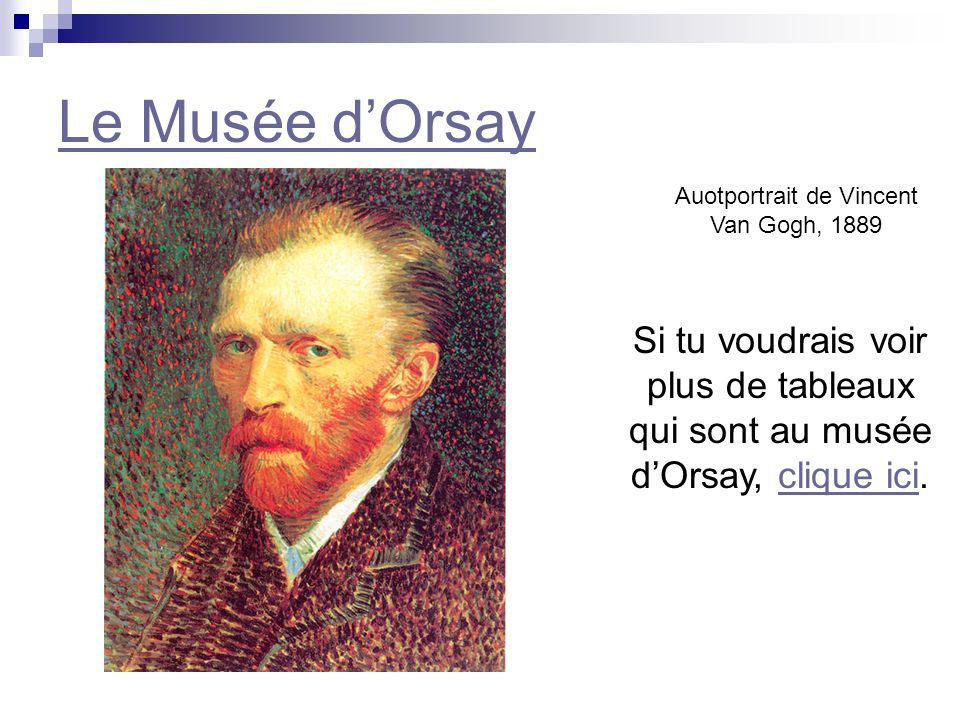 Auotportrait de Vincent Van Gogh, 1889