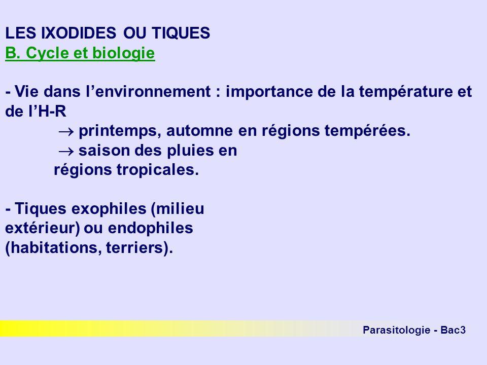- Vie dans l'environnement : importance de la température et de l'H-R
