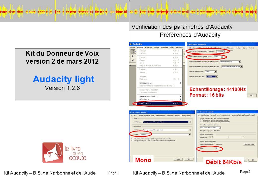 Kit Audacity – B.S. de Narbonne et de l'Aude