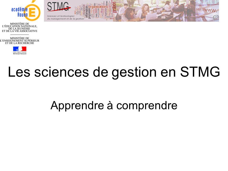 Les sciences de gestion en STMG