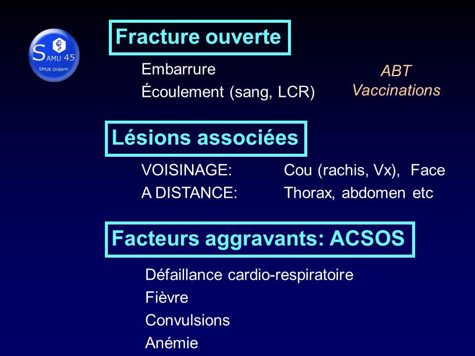 Facteurs aggravants: ACSOS