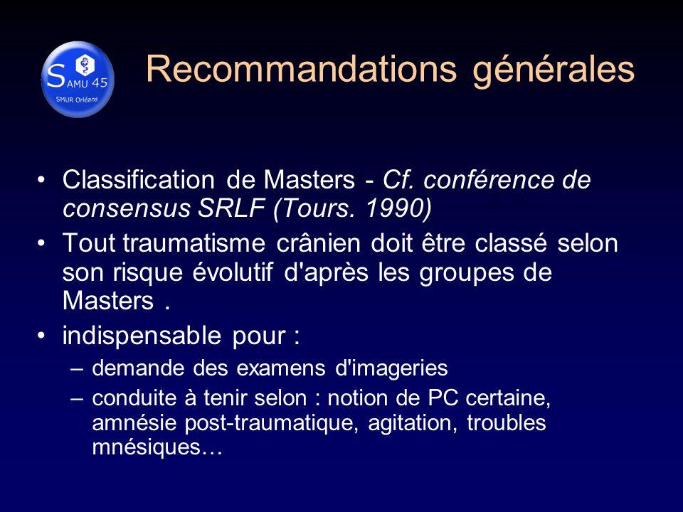 Recommandations générales
