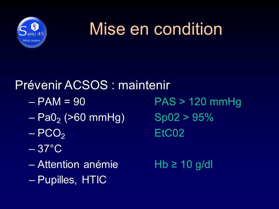 Mise en condition Prévenir ACSOS : maintenir