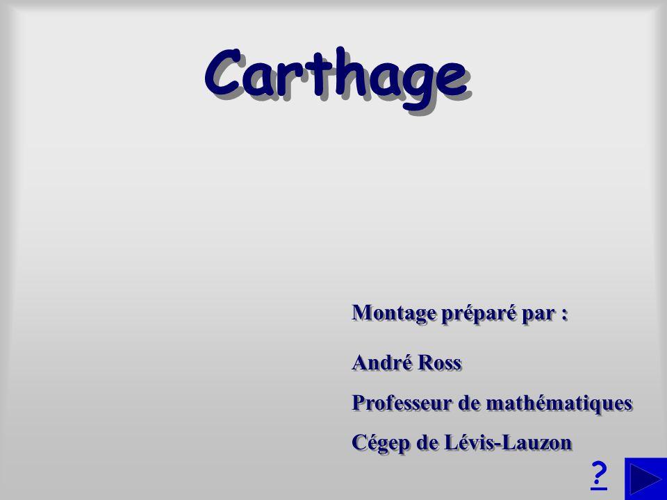 Carthage Montage préparé par : André Ross