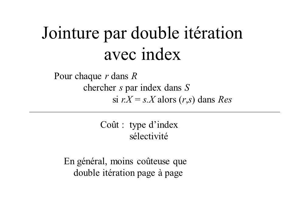 Jointure par double itération avec index