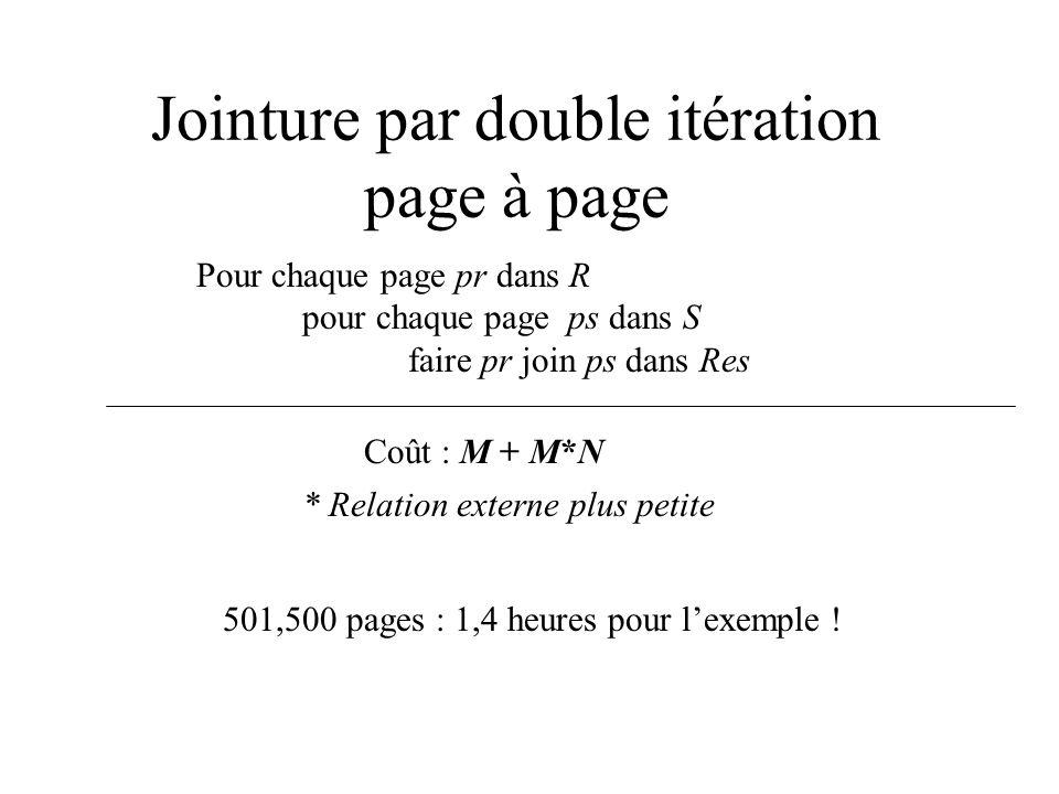 Jointure par double itération page à page