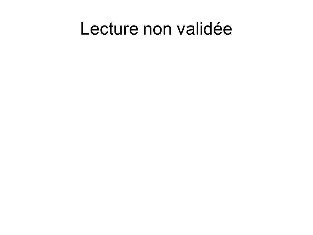 Lecture non validée