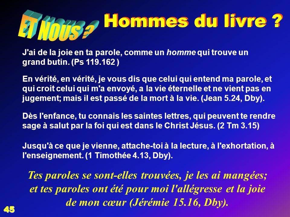 EZECHIAS: D - L HOMME 02/04/2017. Hommes du livre ET NOUS