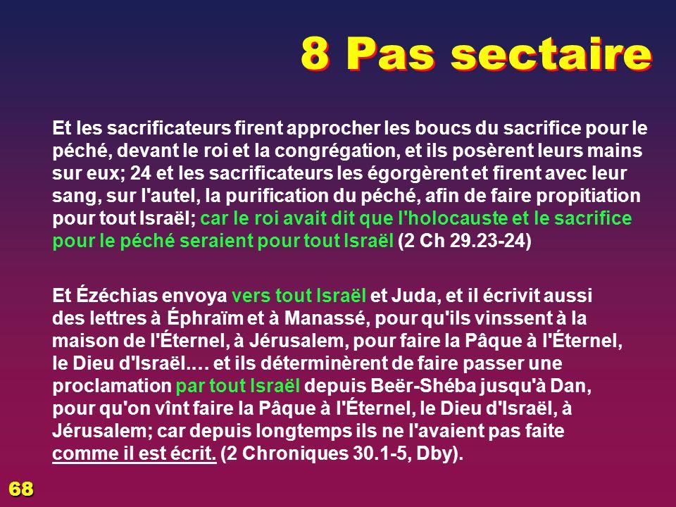 EZECHIAS: D - L HOMME 02/04/2017. 8 Pas sectaire.