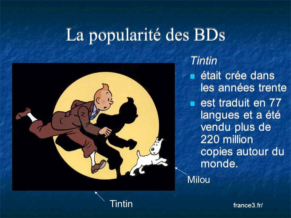 La popularité des BDs Tintin était crée dans les années trente