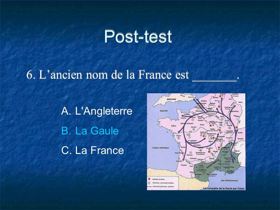 6. L'ancien nom de la France est _______.