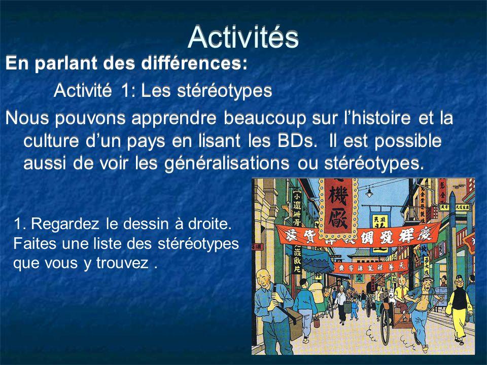 Activités En parlant des différences: Activité 1: Les stéréotypes