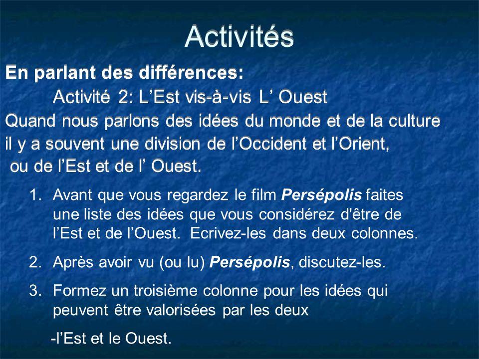 Activités En parlant des différences: