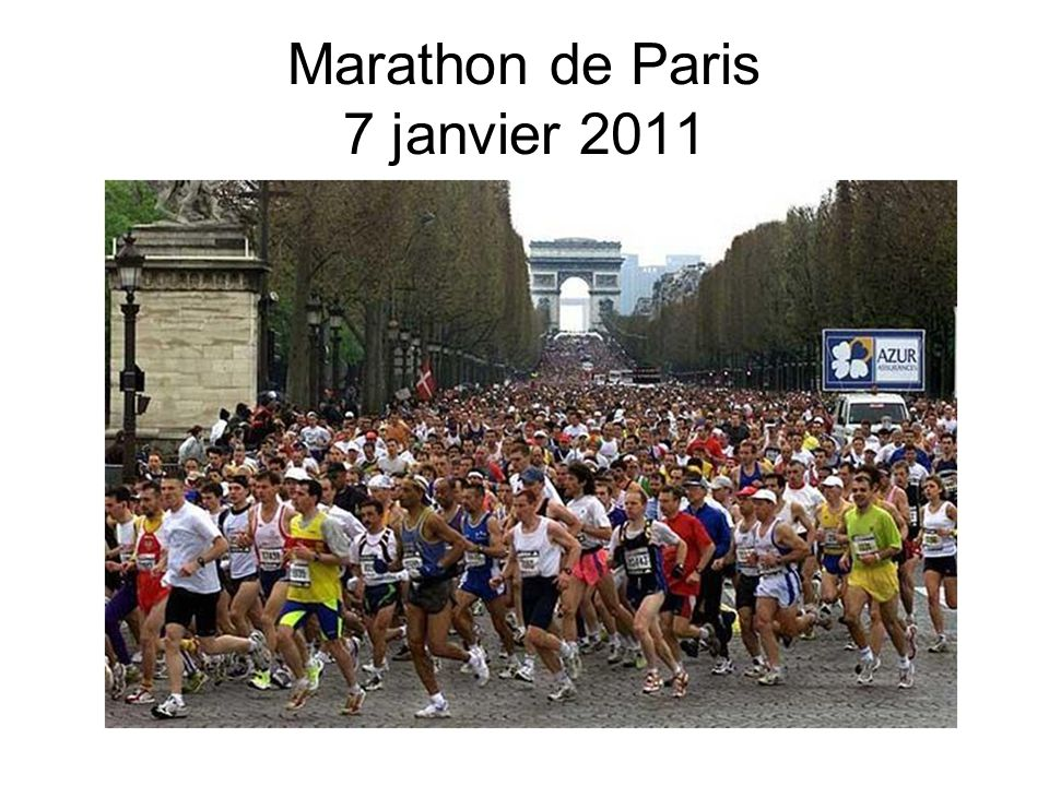 Marathon de Paris 7 janvier 2011