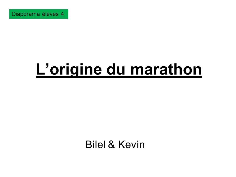 Diaporama élèves 4 L'origine du marathon Bilel & Kevin