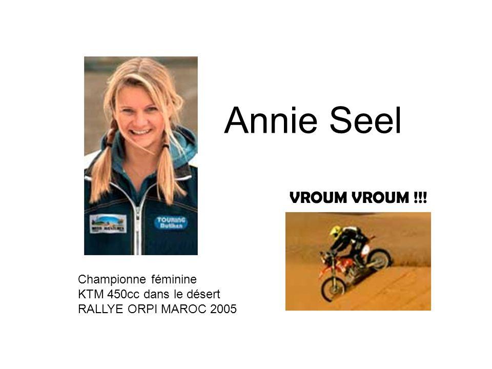 Annie Seel VROUM VROUM !!! Championne féminine