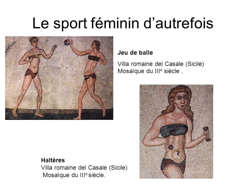 Le sport féminin d'autrefois