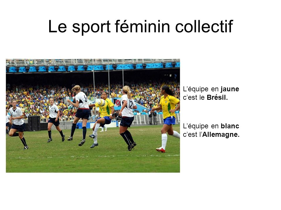 Le sport féminin collectif