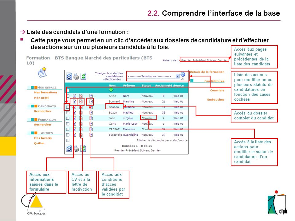 2.2. Comprendre l'interface de la base