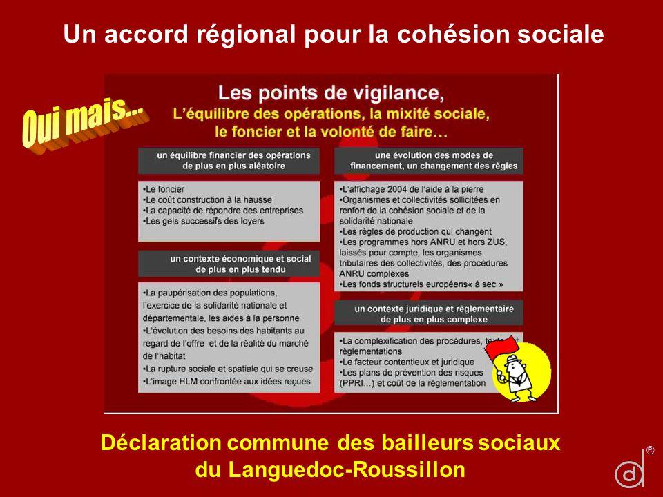 Un accord régional pour la cohésion sociale