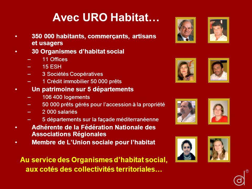 Avec URO Habitat… 350 000 habitants, commerçants, artisans et usagers.