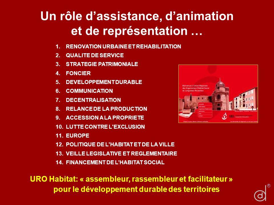 Un rôle d'assistance, d'animation et de représentation …