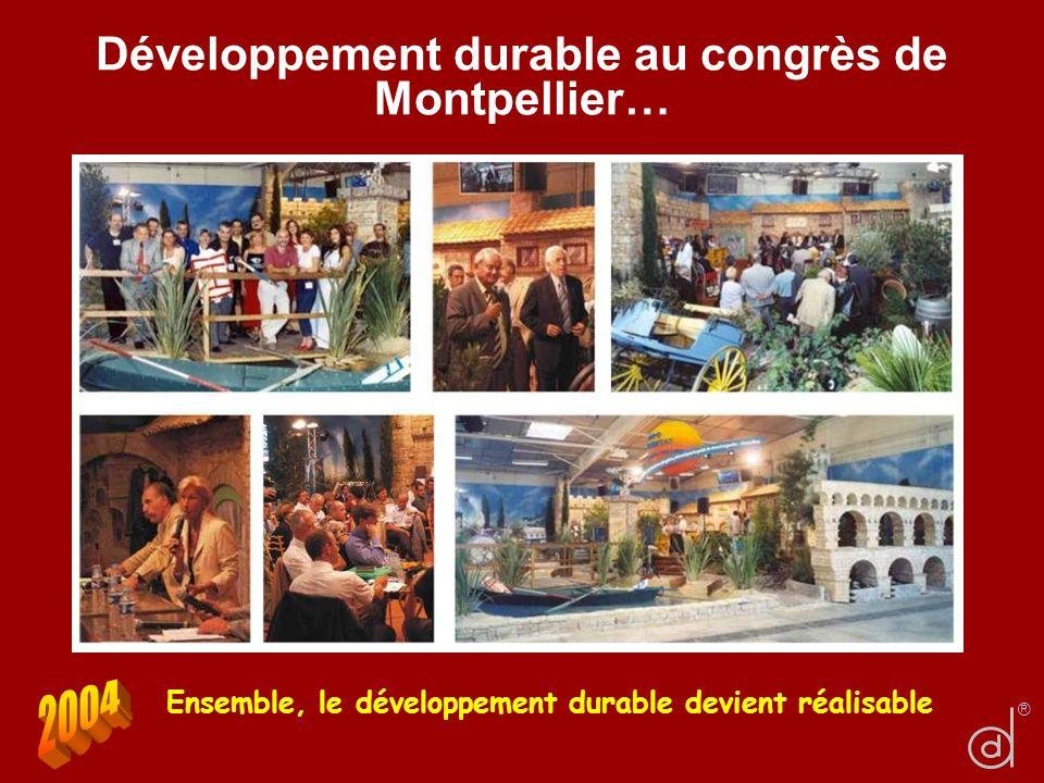 Développement durable au congrès de Montpellier…