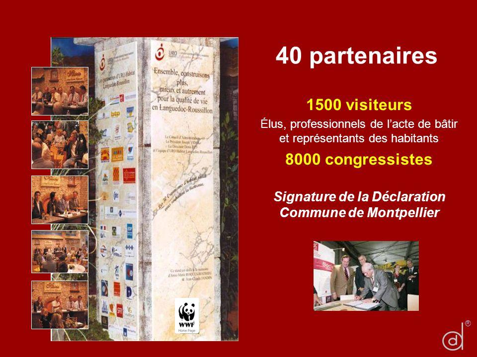 Signature de la Déclaration Commune de Montpellier