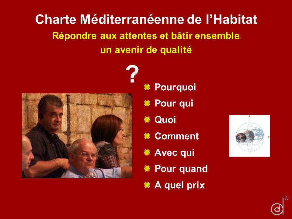 Charte Méditerranéenne de l'Habitat Répondre aux attentes et bâtir ensemble un avenir de qualité