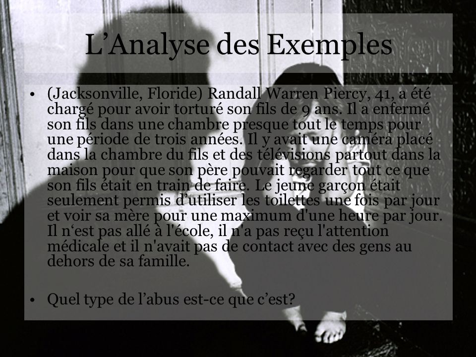L'Analyse des Exemples