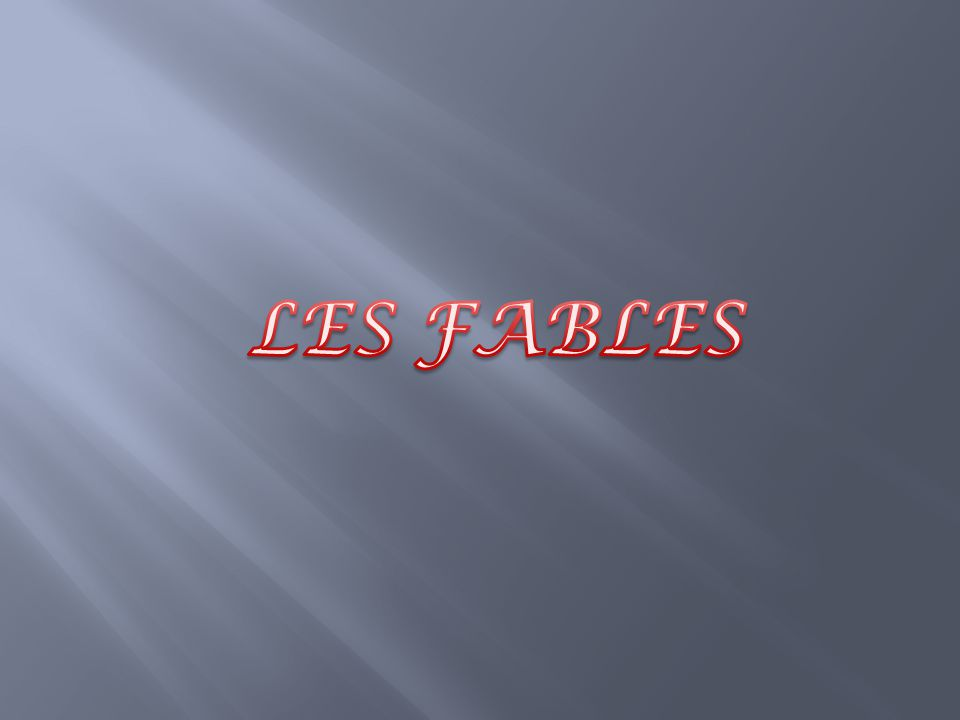 LES FABLES