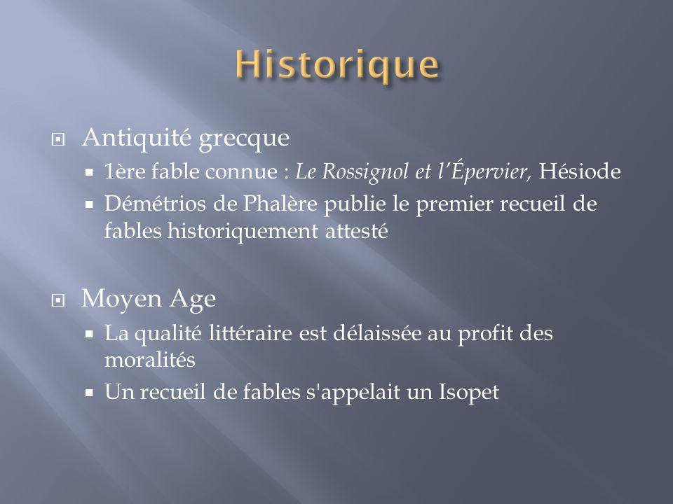 Historique Antiquité grecque Moyen Age