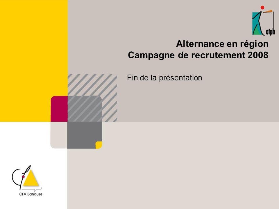 Campagne de recrutement 2008