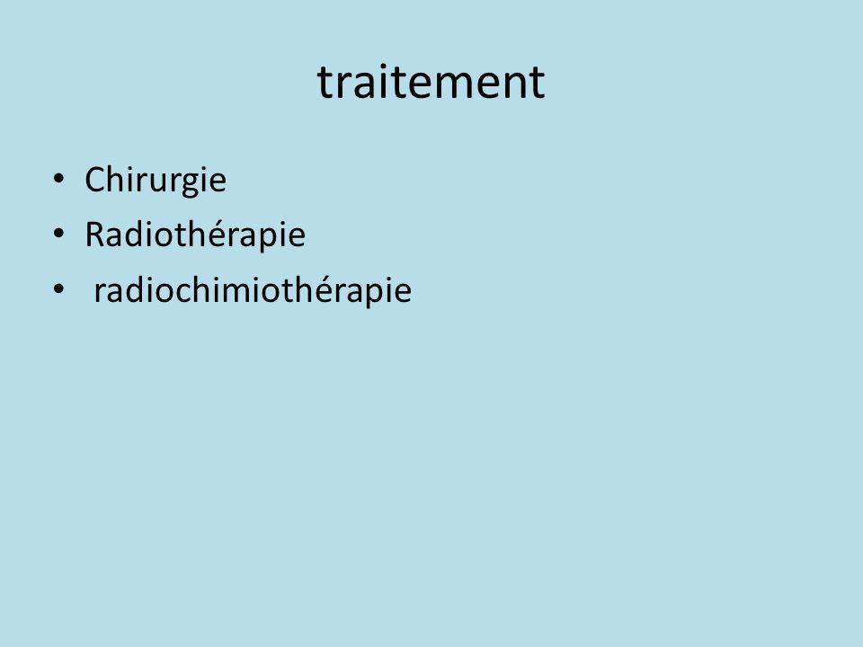 traitement Chirurgie Radiothérapie radiochimiothérapie