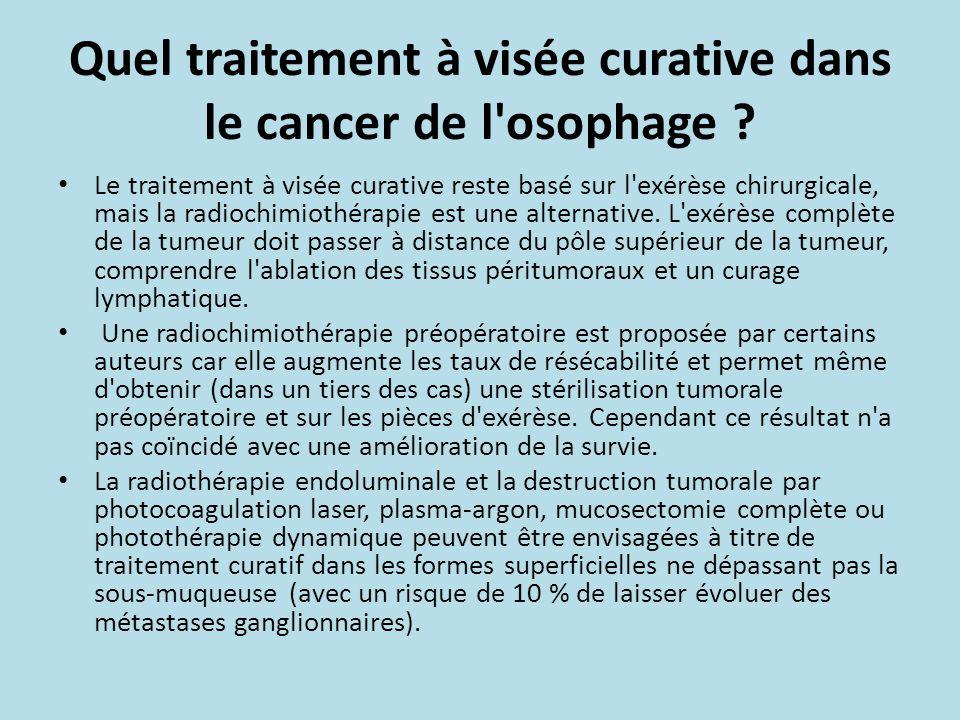 Quel traitement à visée curative dans le cancer de l osophage