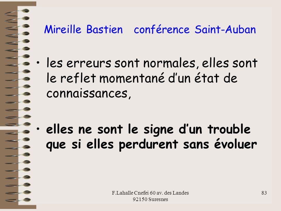 Mireille Bastien conférence Saint-Auban
