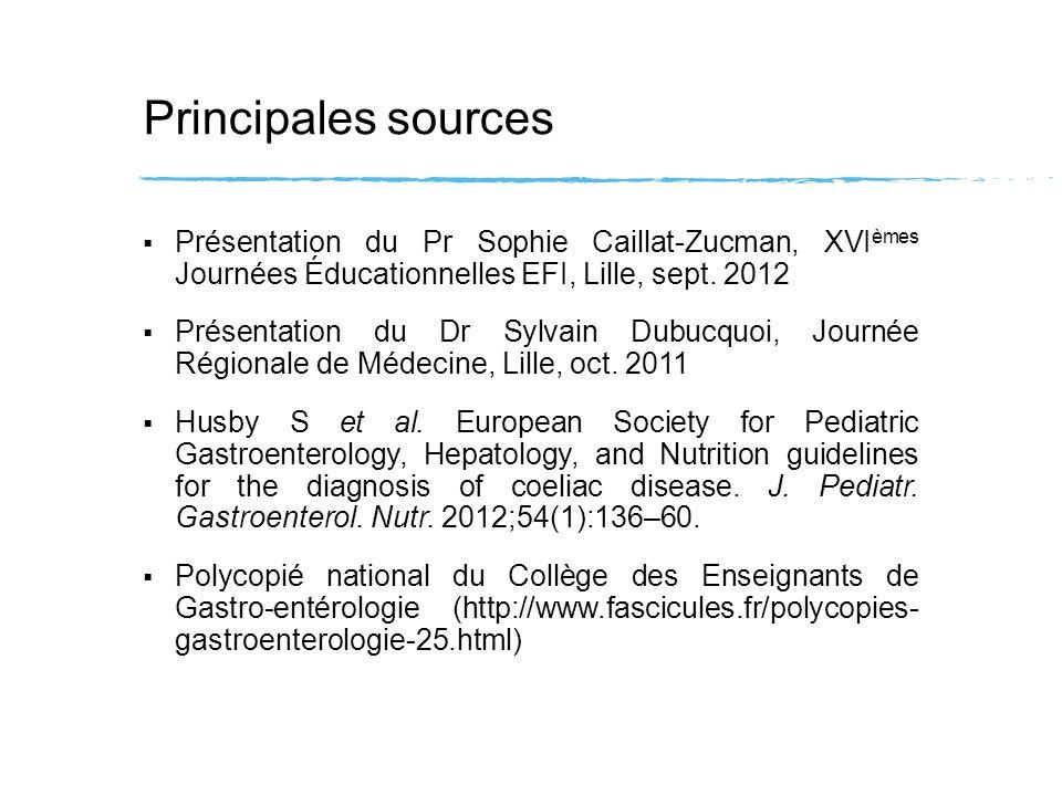 Principales sources Présentation du Pr Sophie Caillat-Zucman, XVIèmes Journées Éducationnelles EFI, Lille, sept. 2012.
