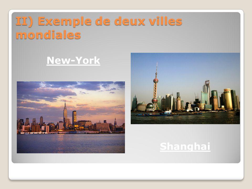 II) Exemple de deux villes mondiales