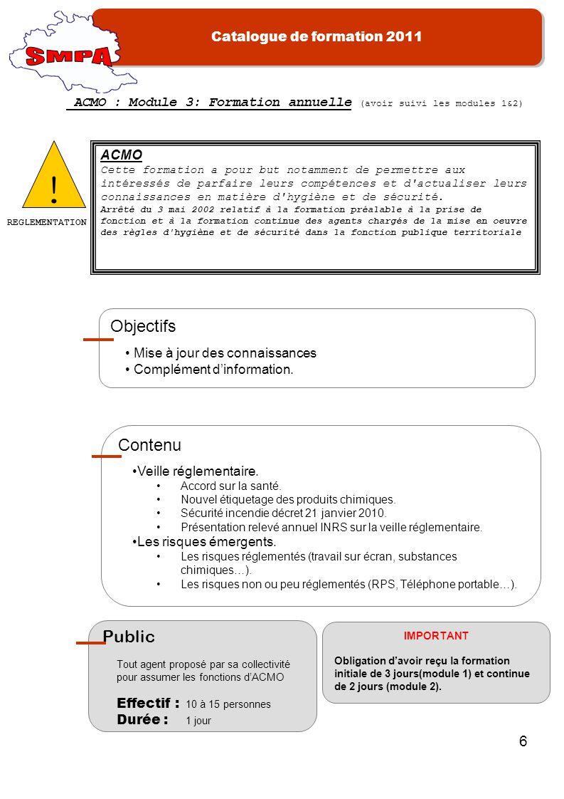 ! SMPA Objectifs Contenu Public