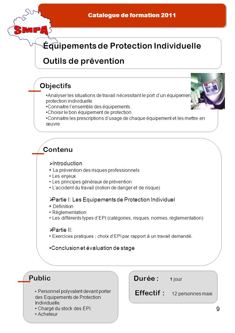 SMPA Équipements de Protection Individuelle Outils de prévention