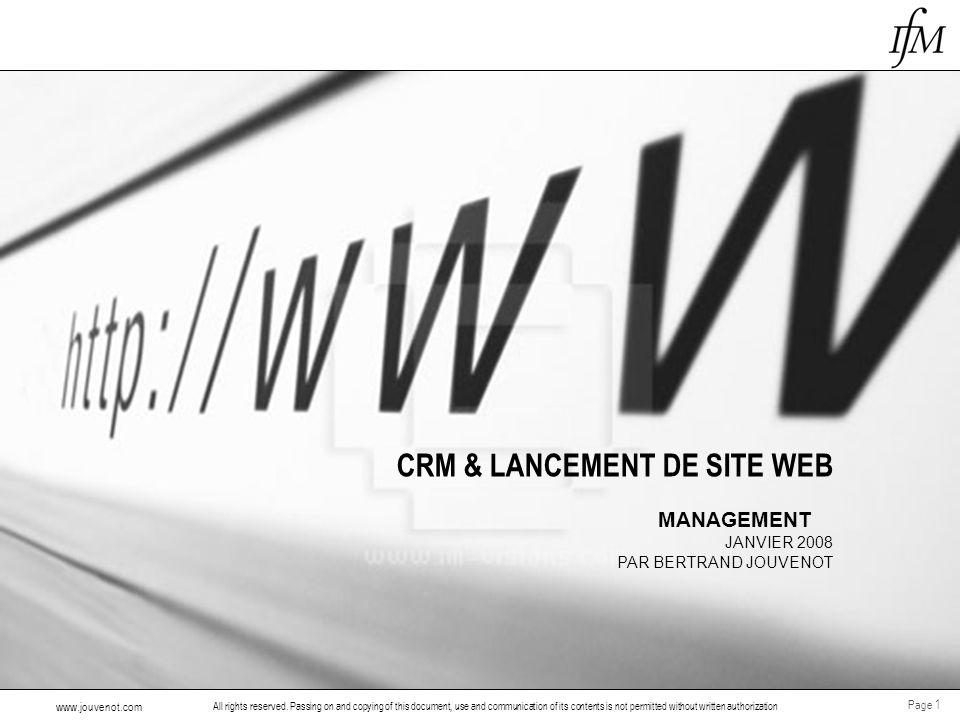 CRM & LANCEMENT DE SITE WEB
