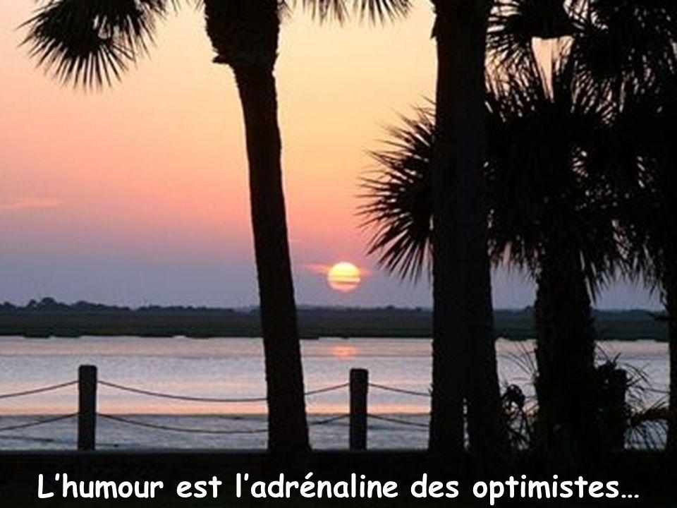 L'humour est l'adrénaline des optimistes…