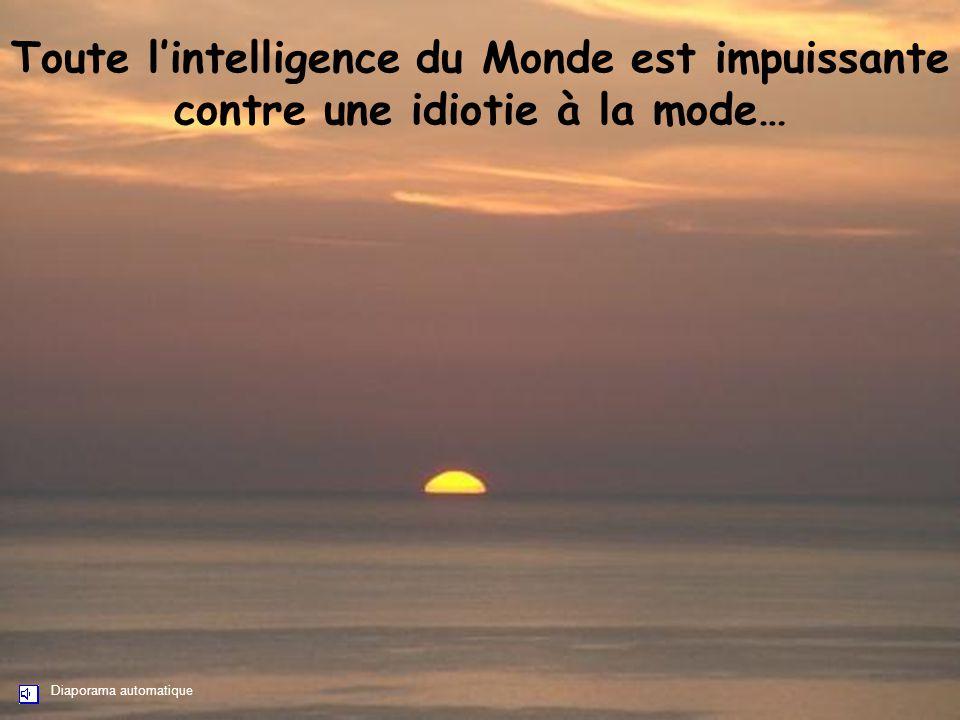 Toute l'intelligence du Monde est impuissante contre une idiotie à la mode…