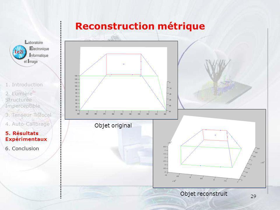 Reconstruction métrique