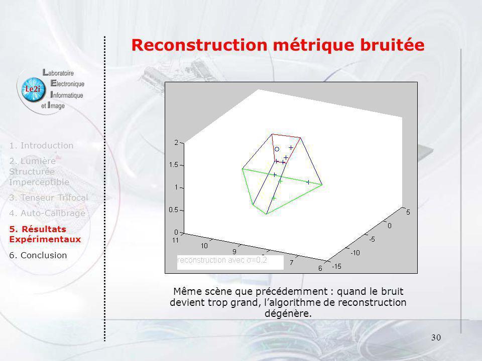 Reconstruction métrique bruitée