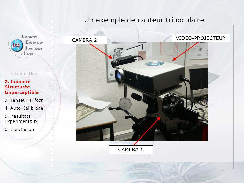 Un exemple de capteur trinoculaire