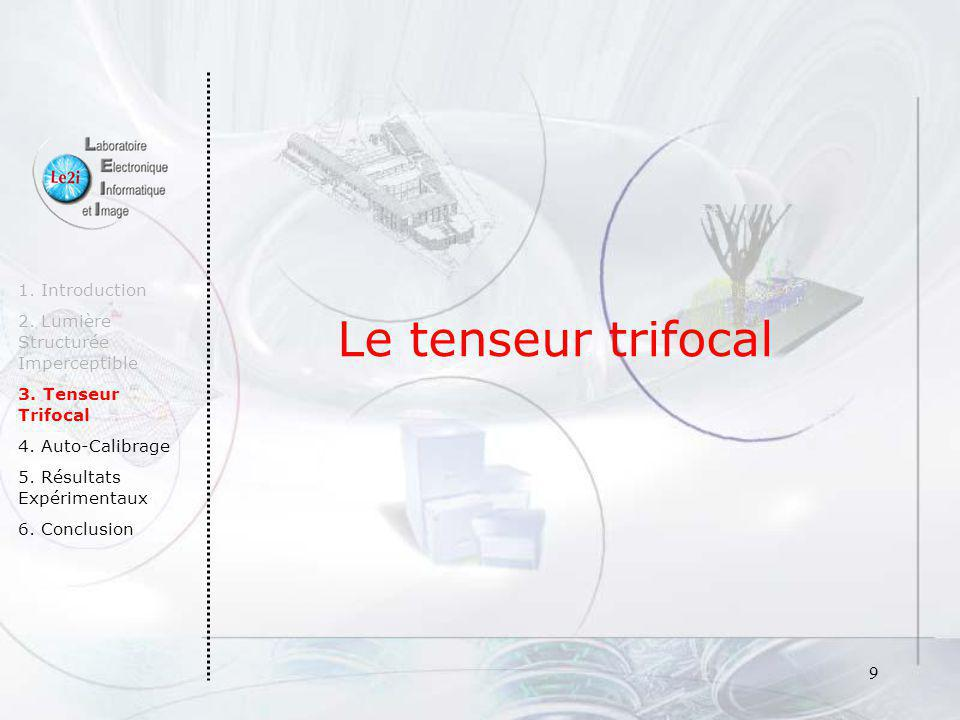 Le tenseur trifocal 1. Introduction